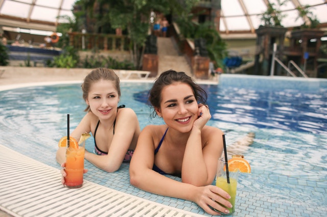 community pool women swimming